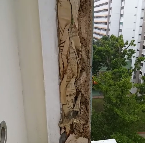 Cheat Contractors Exposed for Building HDB with Newspapers