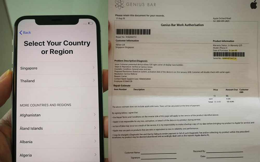 singtel fraud sell old iphone x