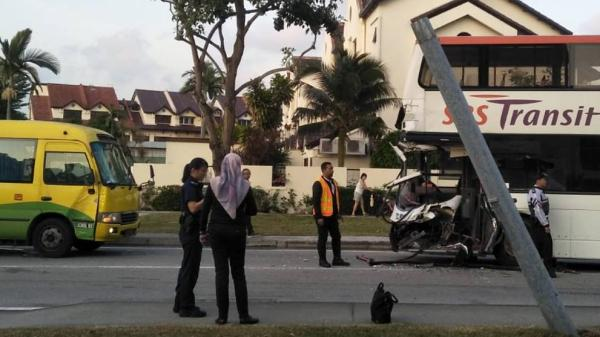 SBS bus crashed into school bus at Bedok, 10 year old among injured