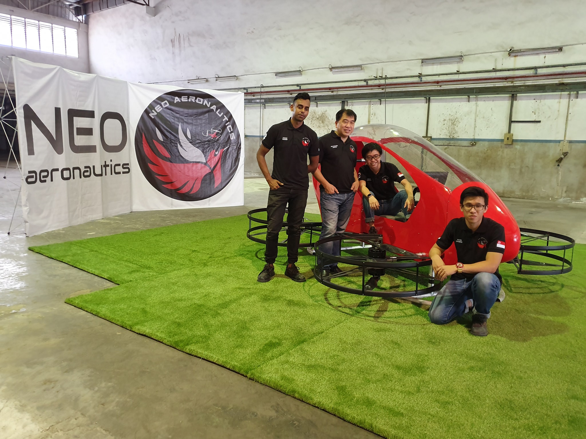 SG company launching single-seater flying vehicle