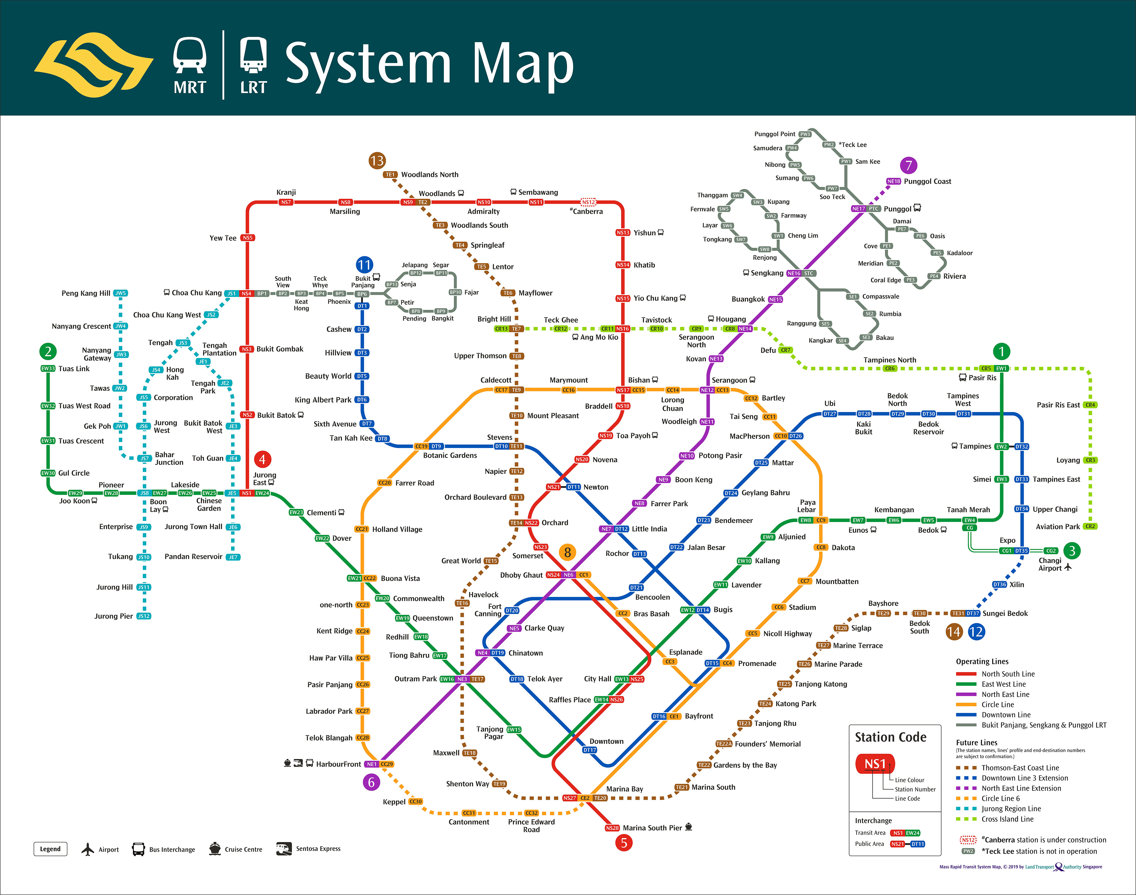 Latest LTA MRT system map shows SG getting ready for population boom by 2030
