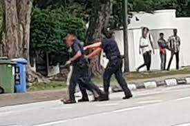 Man wielding knife along Mountbatten Road shot by police with Taser