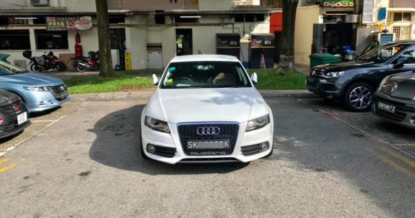 Audi driver treats carpark as his own, blocks 4 other cars