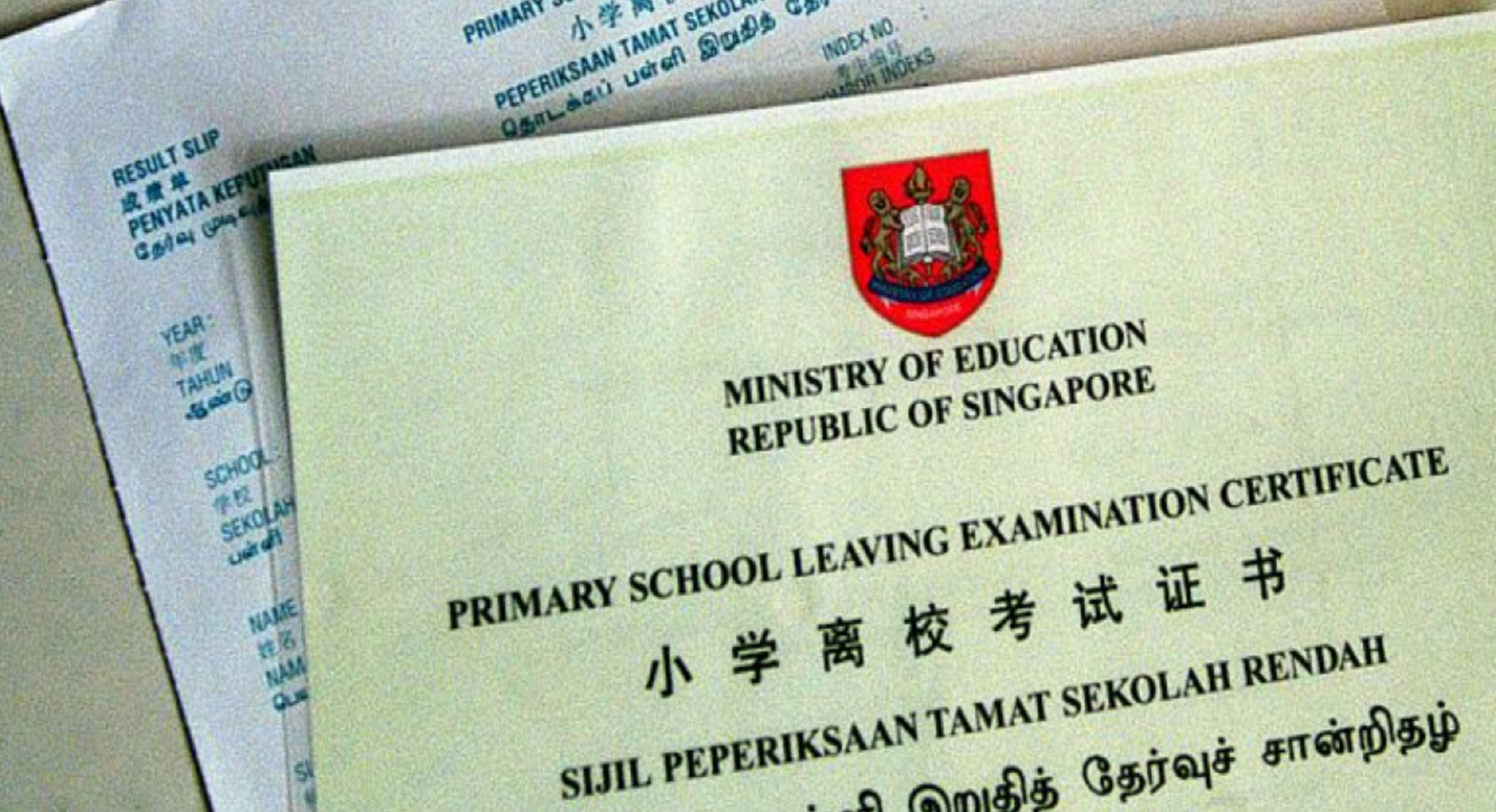 MOE, PSLE, Primary School Leaving Examination, Ministry of Education