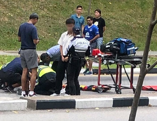 26 year old biker died after accident with jaywalking student at Hougang