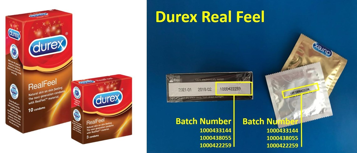 Durex recalls condoms
