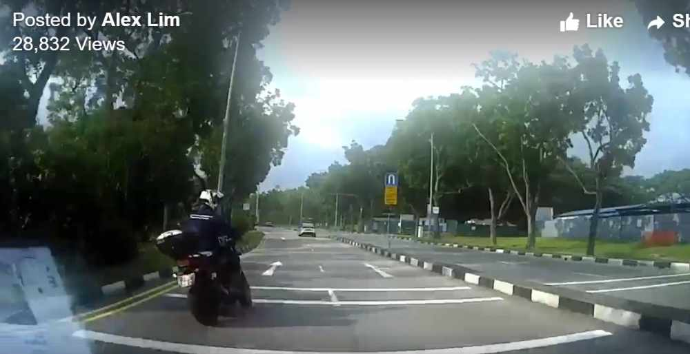 Singapore Biker Road Rage After His Failure To Stop Draws Scolding From Shocked Driver