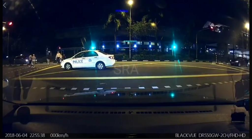 police beat red light